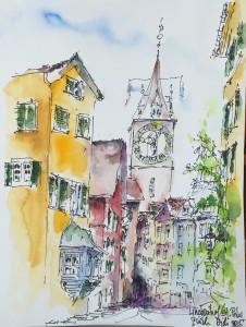 Astrid Amadeo, Astrid Schmid, Blog,Urban Sketching, Zeichnen in Zürich