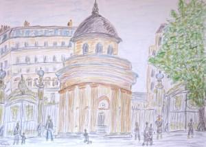 Park Manceau altes Zollhaus, Paris, Albert Mauerhofer,urban sketching,astrid amadeo, astrid schmid, zeichnen in zurich