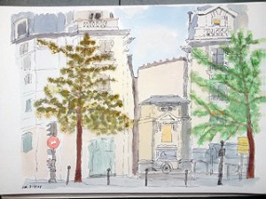 ont Metro Gare Austerlitz,Paris,Atelierstipendium, Albert Mauerhofer, Astrid Amadeo, Urban Sketching