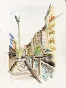 Bolliger Charlotte,Schanzengraben, Zürich,Urban Sketching Samstag Morgen Astrid Schmid, Astrid Amadeo