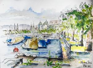 Astrid Amadeo, zeichnen in Zürich, urban Sketching