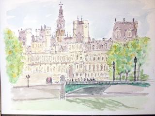 Albert Mauerhofer in Paris, Hôtel de Ville, Astrid Amadeo,Blog, Visarte Schweiz, Atelier