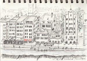 Astrid Amadeo,Urban Sketching, Zeichnen in Zürich