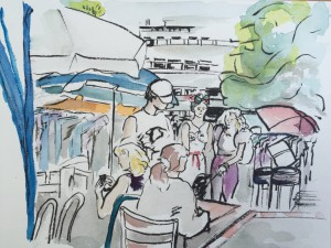 Astrid Amadeo, Urban Sketching, Blogg, Astrid Schmid, Zeichnen in Zürich