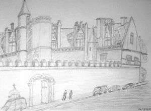 Albert Mauerhofer, Paris, Musèe Cluny, Oktober 2015,,urban sketching,astrid amadeo, astrid schmid, zeichnen in zürich