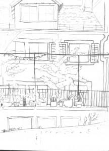 Trittligasse Zürich2_24.10.15, urban sketching,astrid amadeo, astrid schmid, zeichnen in zürich