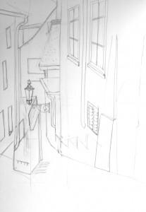 Frankengasse_2_24.10.15, urban sketching,astrid amadeo, astrid schmid, zeichnen in zürich