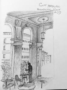 Gabriela Pomella_Restaurant Metropol, Zürich, 26. Sep.15, urban sketching,astrid amadeo, astrid schmid, zeichnen in zürich