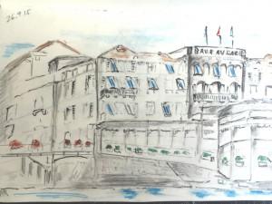 Walter Rüedlinger_Baur au Lac_26.9.15, urban sketching,astrid amadeo, astrid schmid, zeichnen in zürich