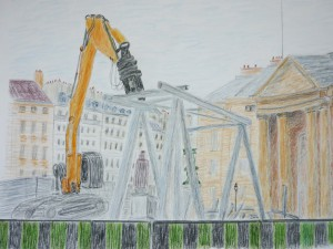 Albert Mauerhofer, Paris.Place Pantheon, Nov.15, urban sketching,astrid amadeo, astrid schmid, zeichnen in zürich