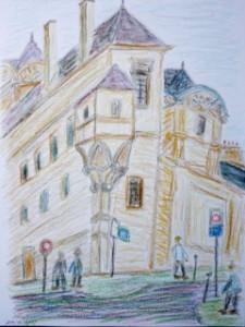Albert Mauerhofer, Paris, urban sketching,astrid amadeo, astrid schmid, zeichnen in zürich