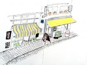 Bruno Lauper, Stüssihof,21.11.15, urban sketching,astrid amadeo, astrid schmid, zeichnen in zürich
