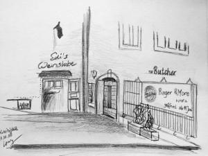 Cornelia Silaghi_Stüssihofstatt_21.11.15, urban sketching,astrid amadeo, astrid schmid, zeichnen in zürich