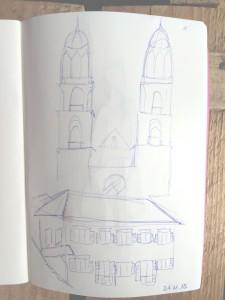 samstag morgen,urban sketching,astrid amadeo, astrid schmid, zeichnen in zürich