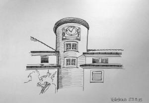 Petra Palm_ Volkshaus_29.8.15, samstag morgen,urban sketching,astrid amadeo, astrid schmid, zeichnen in zürich