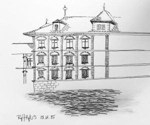 Petra Palm_Rathaus_21.11.15, samstag morgen,urban sketching,astrid amadeo, astrid schmid, zeichnen in zürich