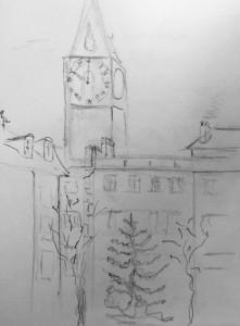 Walter Rüedlinger_St.Peter_21.11.15, urban sketching,astrid amadeo, astrid schmid, zeichnen in zürich