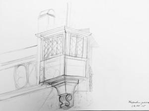astrid amadeo,urban sketching, Zeichnen am Samstag Morgen in Zürich, Altstadt, Frankengasse