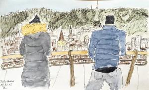 Bruno Lauper_Polyterrasse,ETH Zürich,urban sketching