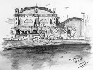Cornelia Silaghi_HB Zürich,urban sketching