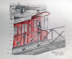 Urban Sketching, Samstag Morgen, Zürich, Astrid Amadeo,
