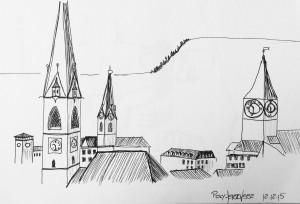 Petra Palm_Ausblick Polyterrasse ETH Zürich