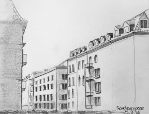 Petra Palm_Schreinerstrasse, urban sketching