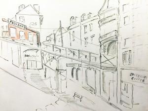 Walter Rüdlinger_Polybahn,urban sketching, Zeichnen am Samstag Morgen in Zürich,