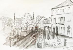 Cornelia Silaghi_Kunsthaus Zürich_16.4.16, astrid amadeo,urban sketching, Zeichnen am Samstag Morgen in Zürich