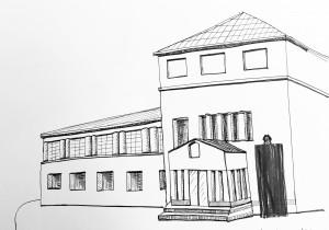 Petra Palm_Kunsthaus Zürich_16.4.16, astrid amadeo,urban sketching, Zeichnen am Samstag Morgen in Zürich