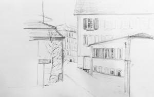 Ruth Jordi_aus dem Kunsthausrestaurant, Zürich Urban Sketching