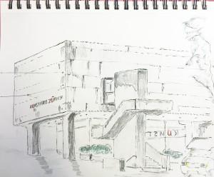 Walter Rüedlinger_Kunsthausrestaurant,16.5.16 Zürich Urban Sketching