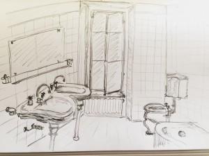 Gabriela Pomella,Bellerivemuseum,astrid amadeo,urban sketching, Zeichnen am Samstag Morgen in Zürich