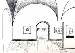 Petra Palm_Bellerivemuseum,astrid amadeo,urban sketching, Zeichnen am Samstag Morgen in Zürich