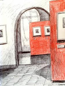 Simone Schauwecker_Bellerivemuseum,astrid amadeo,urban sketching, Zeichnen am Samstag Morgen in Zürich