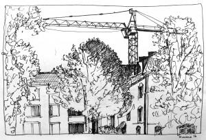 Simone Schauwecker_Seefeld,astrid amadeo,urban sketching, Zeichnen am Samstag Morgen in Zürich