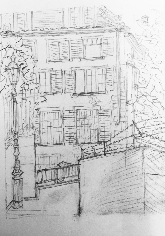 Carolin Schmidt, Rehgaesschen, Astrid Schmid, Sommerkurs Urban Sketching 2016