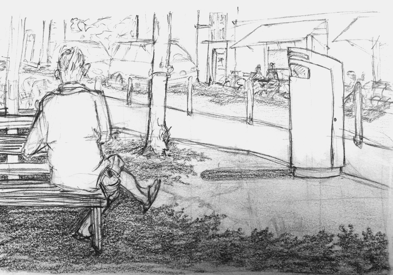 Carolin Schmidt, Zweierstrasse,Astrid Schmid, Sommerkurs Urban Sketching 2016