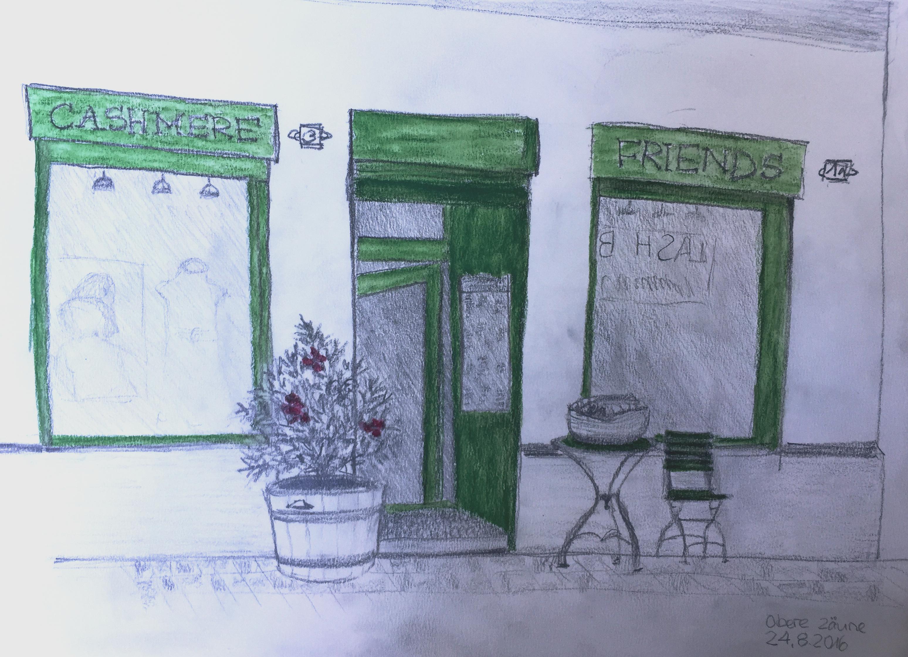 Chris Vonlanthen,Obere Zaeune, Zürich,Sommerkurs,Astrid Amadeo, Urban Sketching, Blog