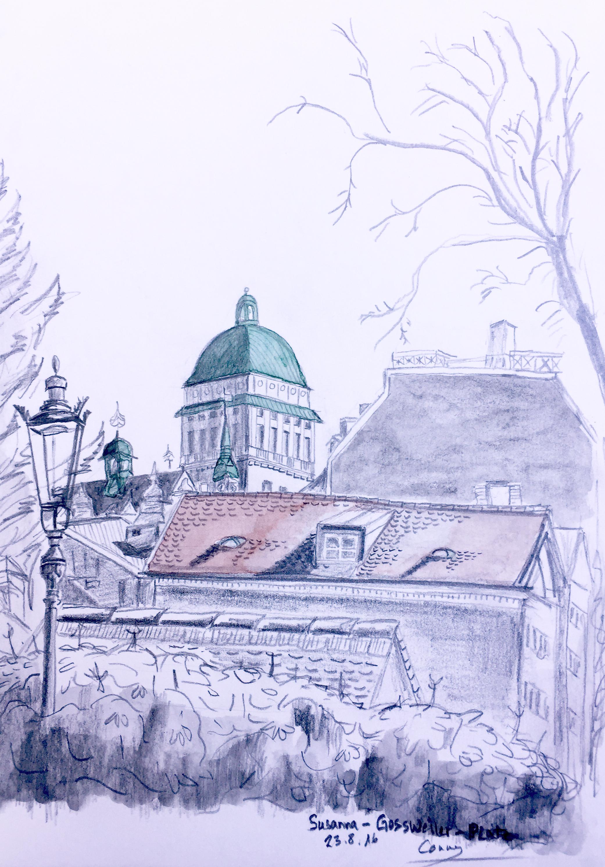 Cornelia Silaghi, Sommerkurs Urban Sketching 2016