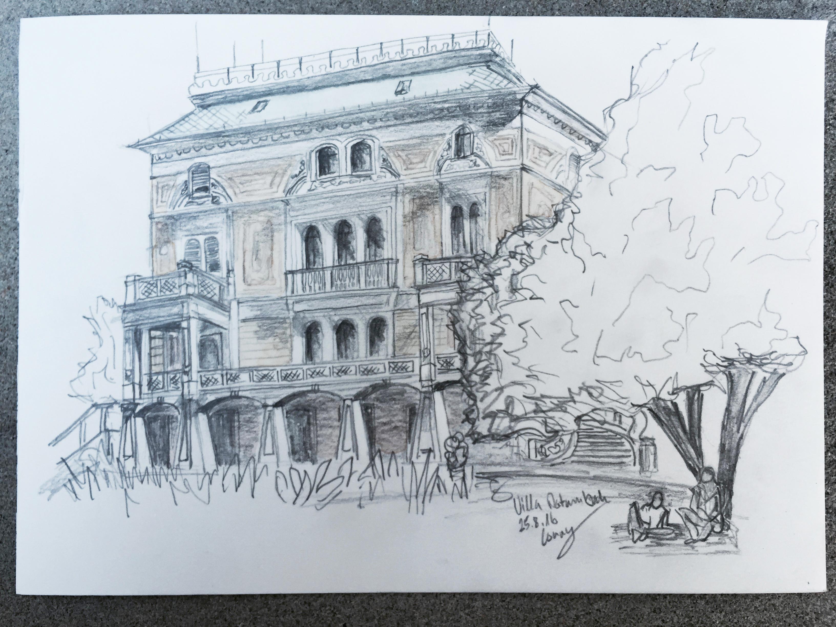 Cornelia Silaghi, Villa Patumbah, Astrid Amadeo, Urban Sketching, Blog, Astrid Schmid, Zeichnen in Zürich