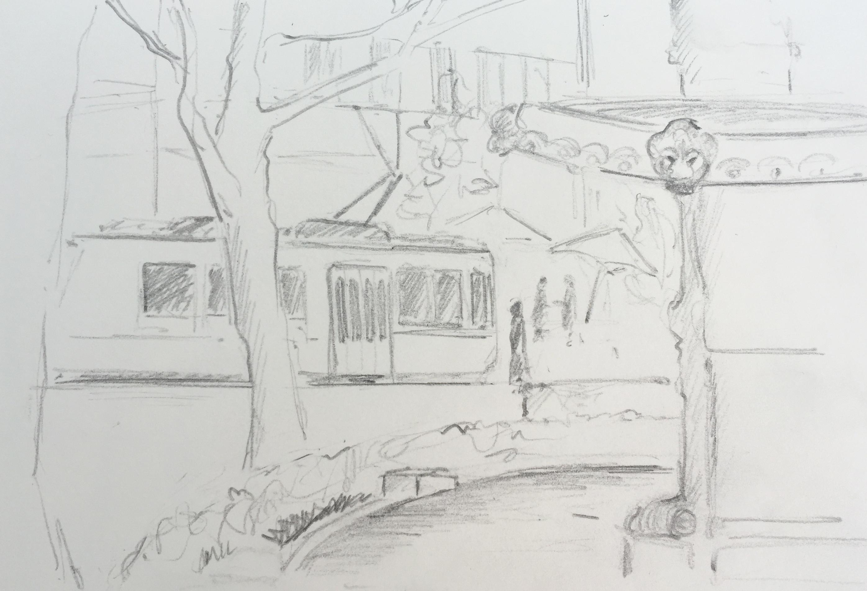 Stadelhofen, Astrid Amadeo, Urban Sketching, Blogg,