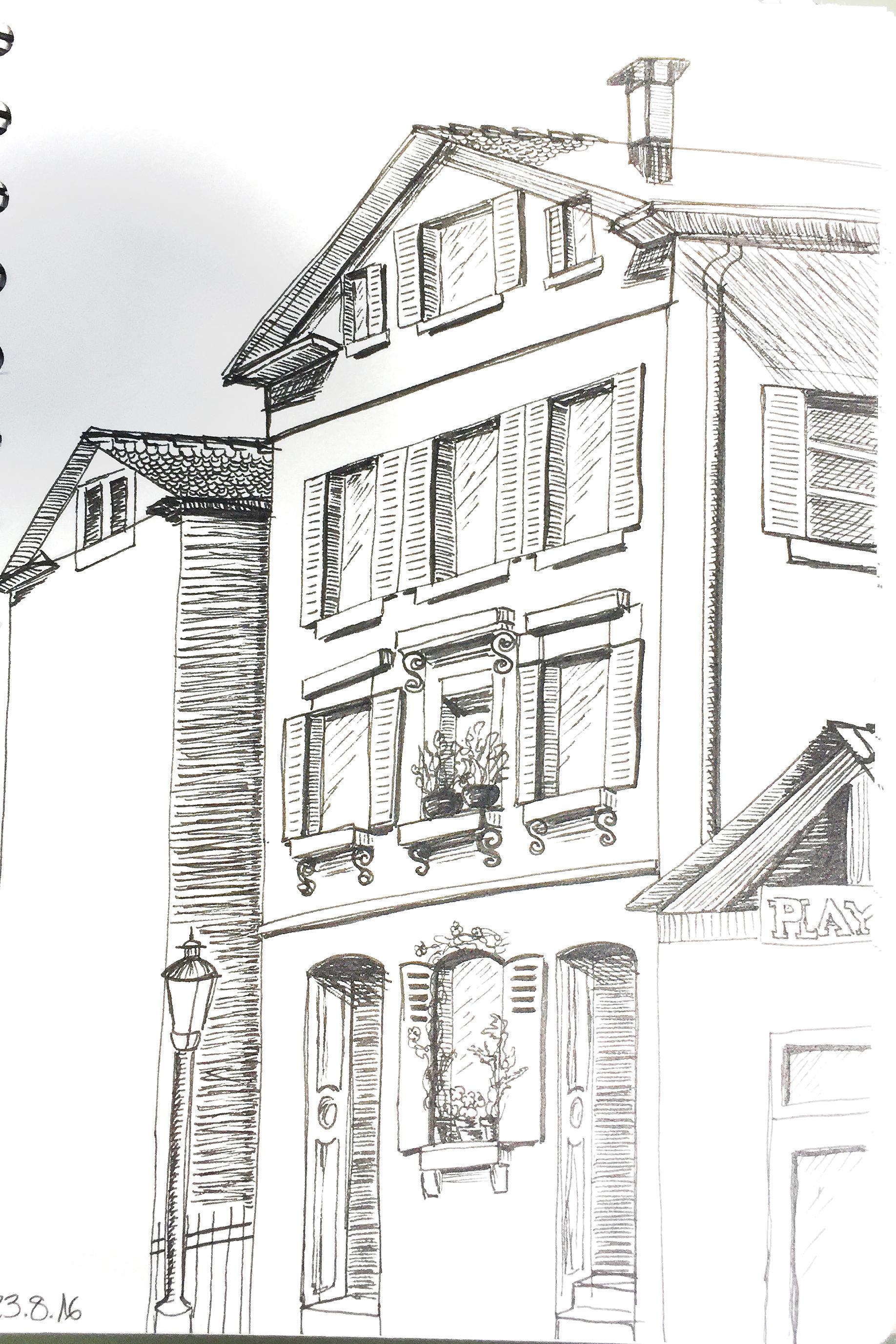 Petra Palm, Urban Sketching, 2016, Sommerkurs