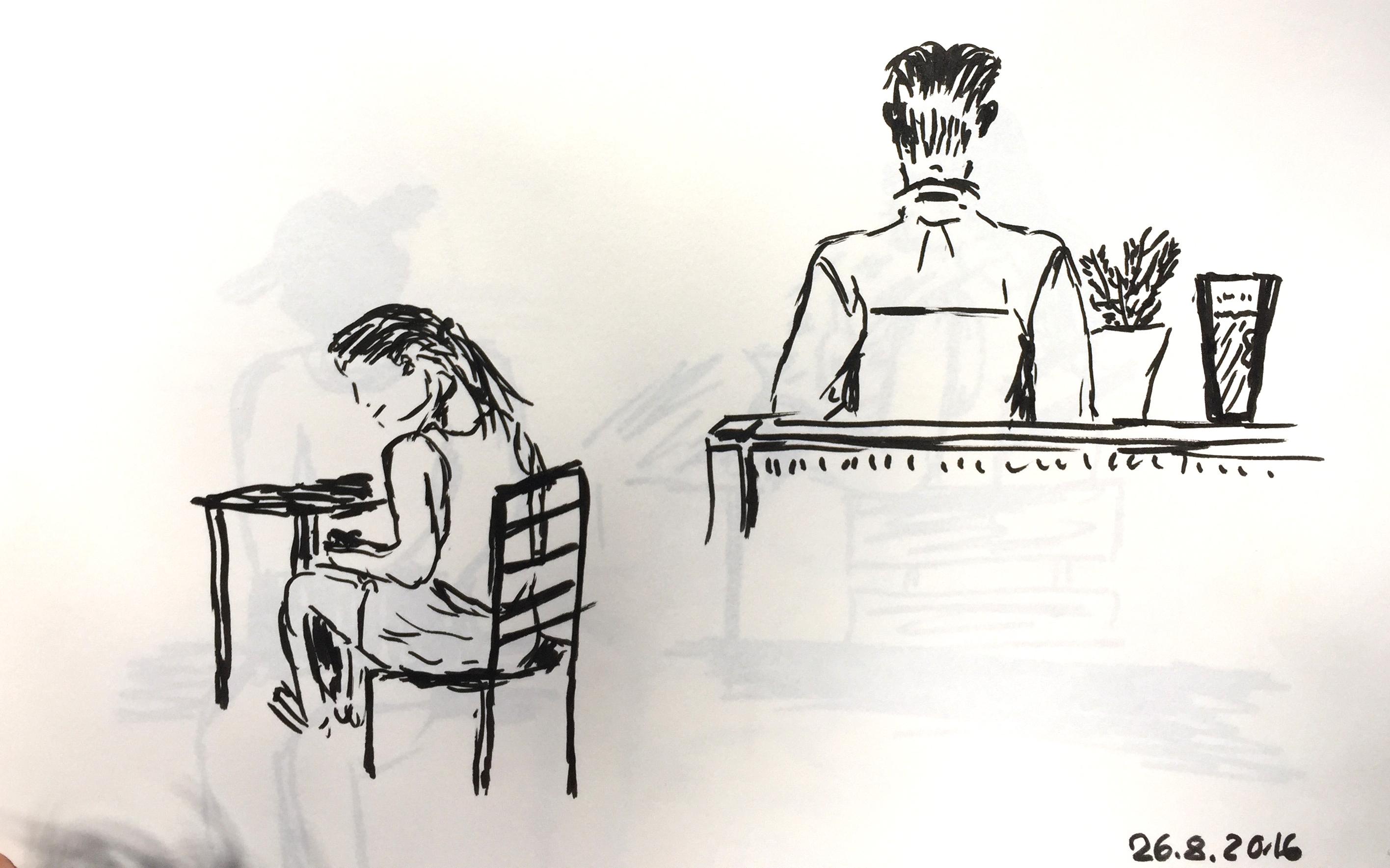 Astrid Amadeo,Summer Academy, Urban Sketching, Blog, Astrid Schmid, Zeichnen in Zurich