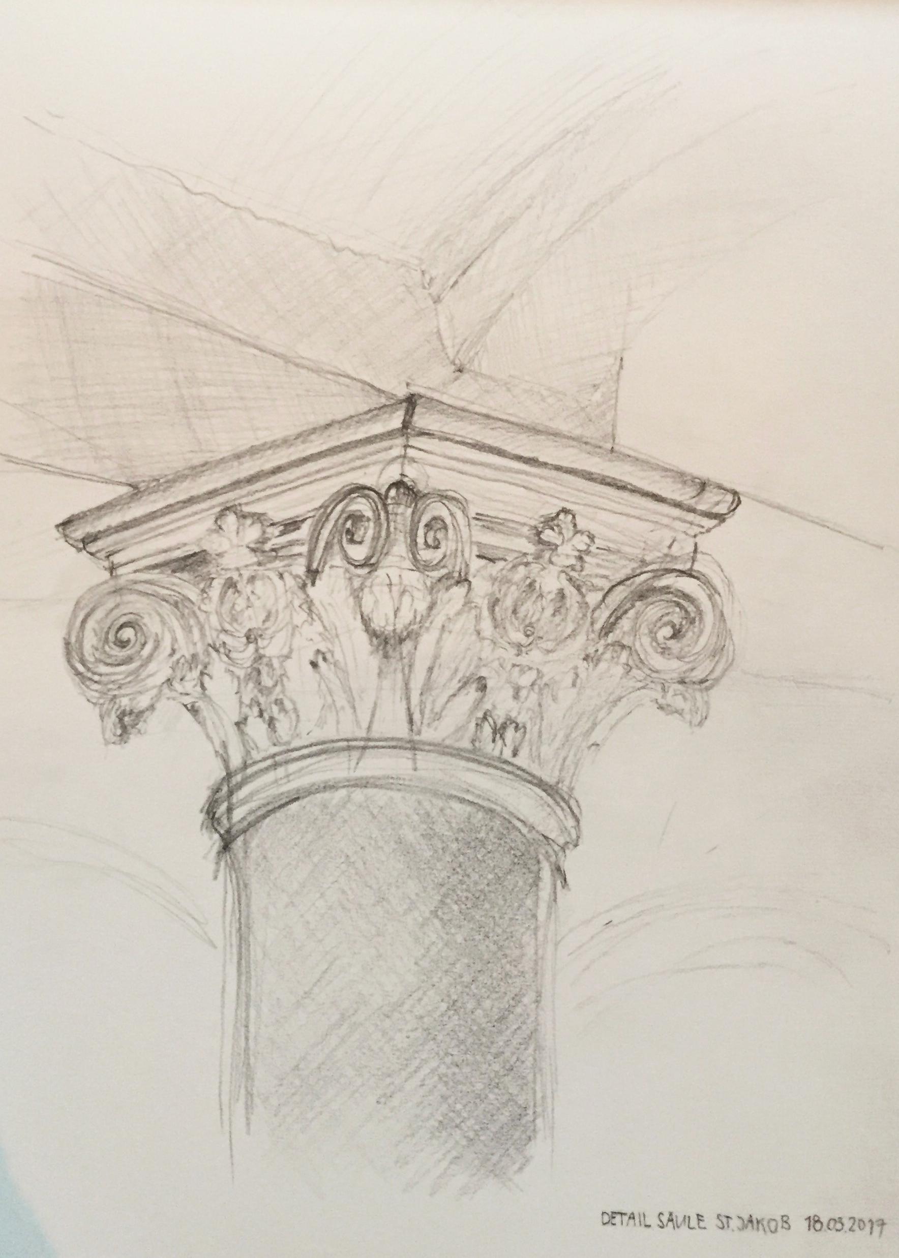 Säule St.Jakob, Detailstudie