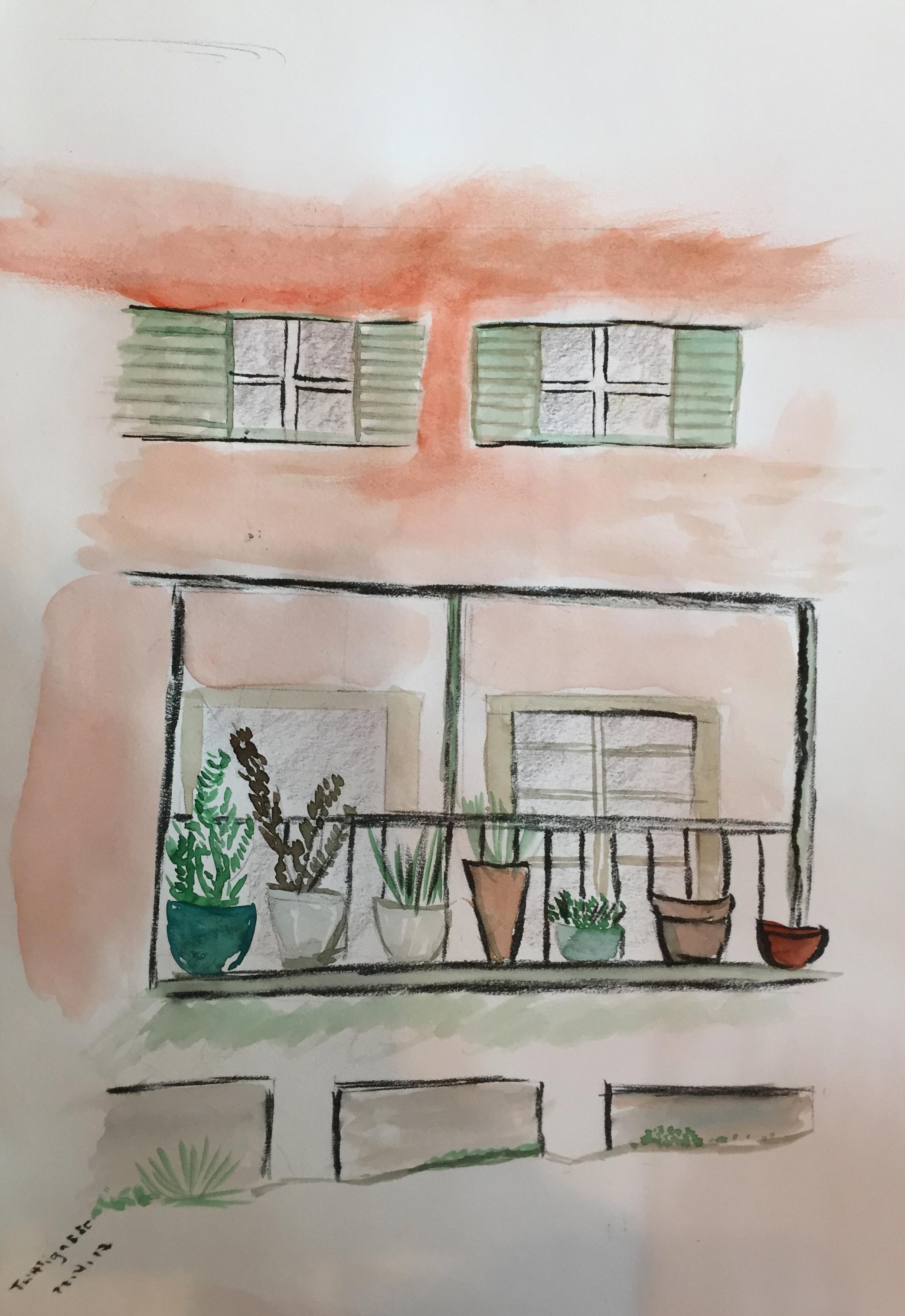 Trittligasse_Urban Sketching, 2017, Neuer Kurs