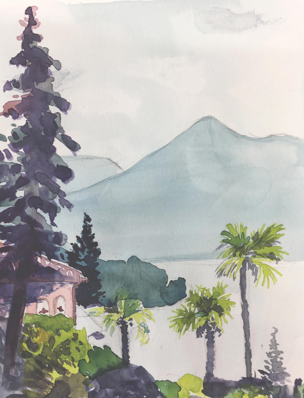 Casa Bick, St. Abbondio, Urban Sketching, Workshopwoch,Astrid Amadeo