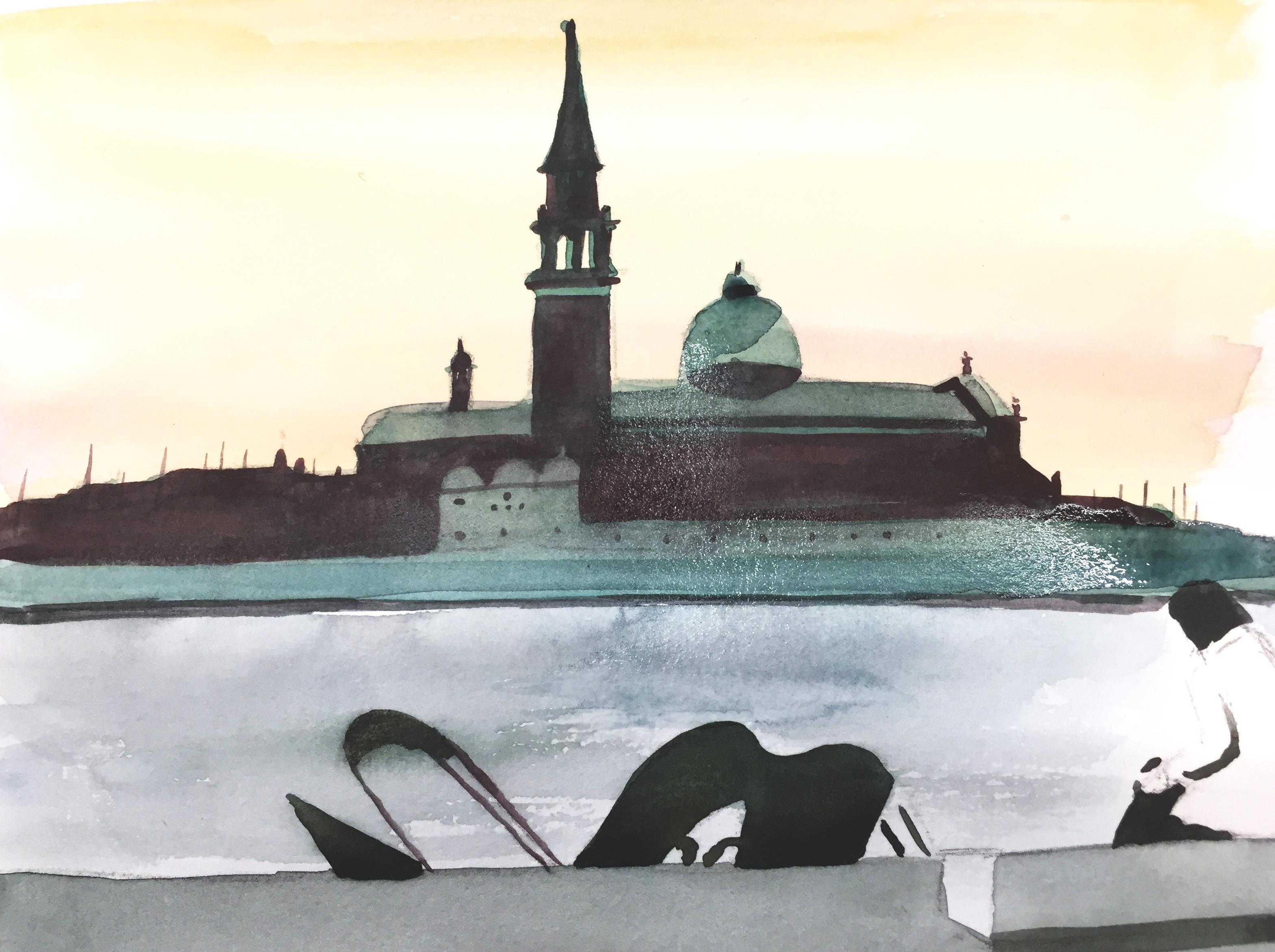 Aquarell, Astrid Amadeo, Urban Sketching
