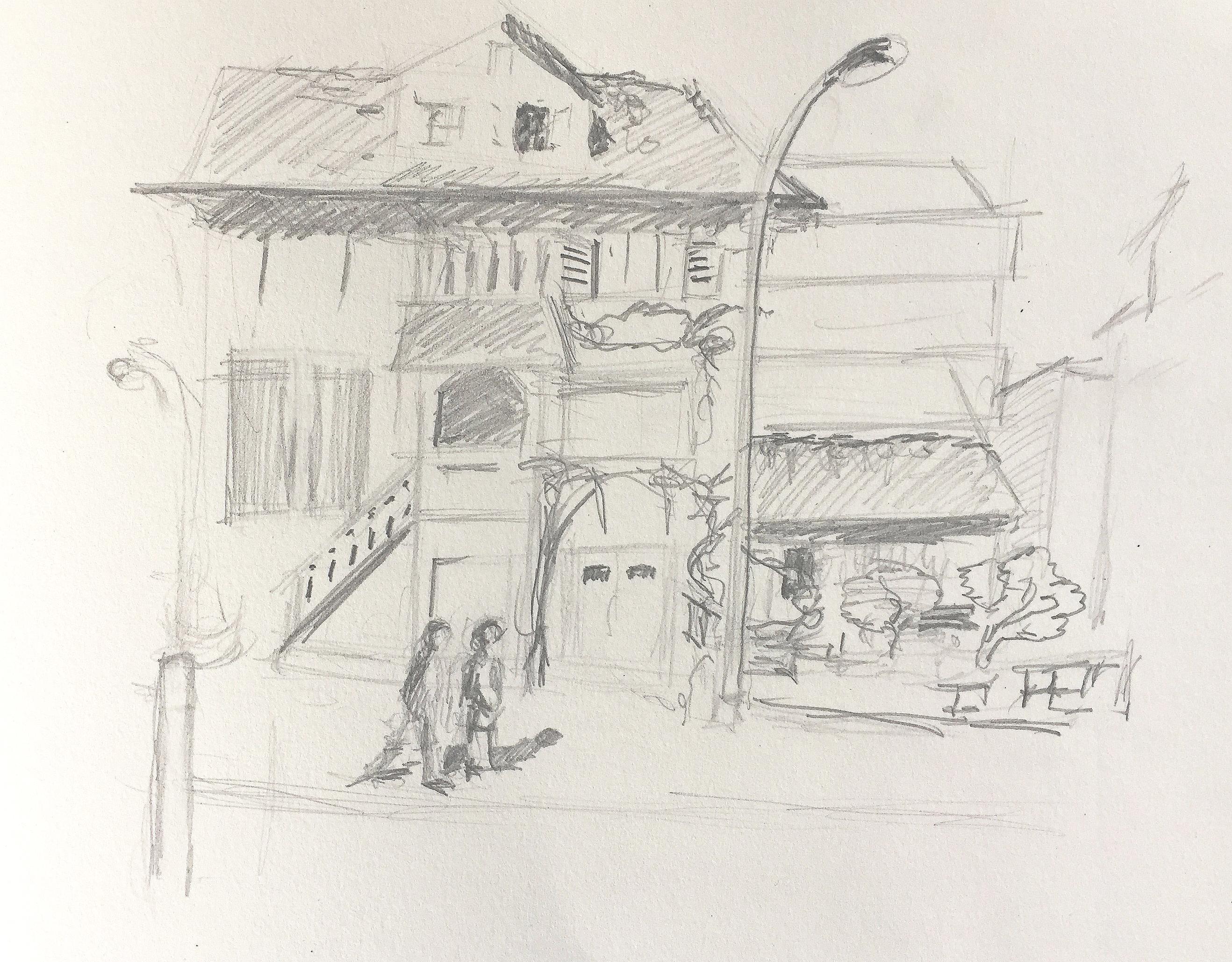 Urban Sketching,2018, Astrid Schmid Zeichnen in Zürich, Astrid Amadeo