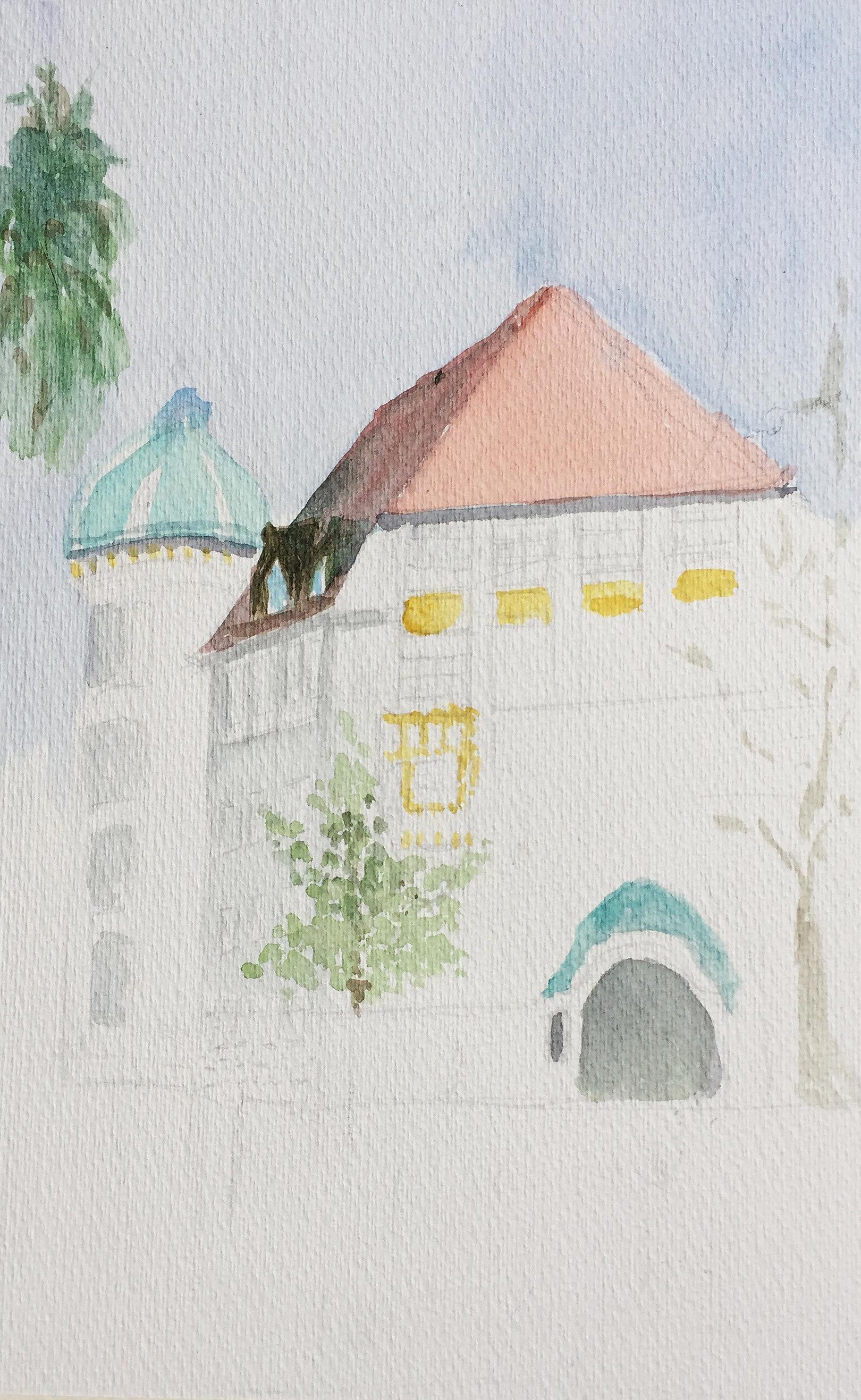 Ruth Bär_Aquarell_Röslistrasse_Aquarell_5.5.18_Urban Sketching_Astrid Amadeo_Zeichnen in Zürich